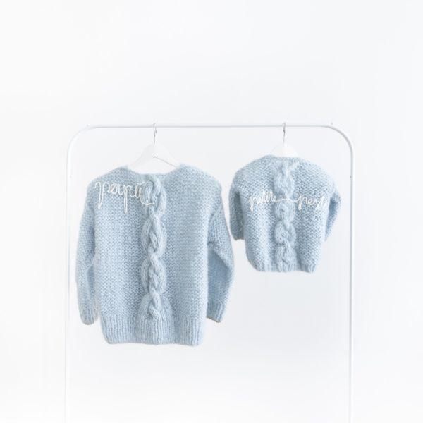 Twinning set handmade Maurice // ice blue