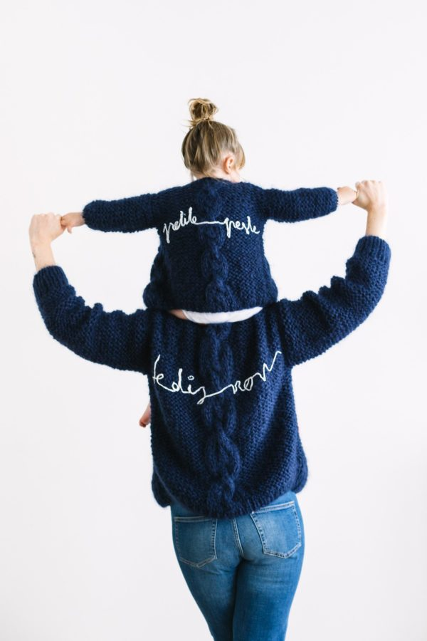 Twinning set handmade Maurice // navy blue