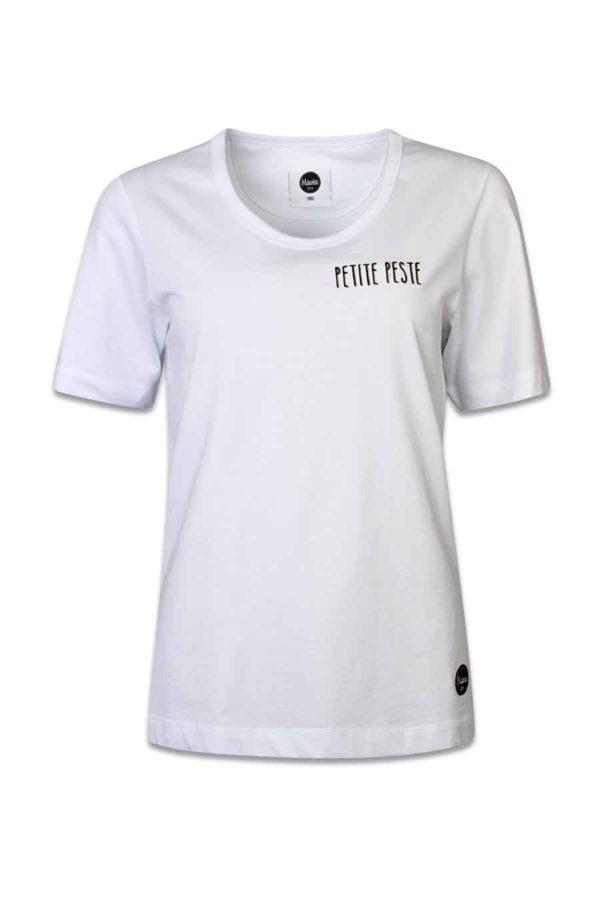 Boyfriend 'petite peste' T-shirt Renée white